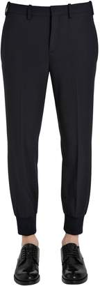 Neil Barrett Extra Fine Stretch Wool Gabardine Pants