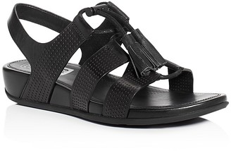 FitFlop Gladdie Perforated Lace Up Demi Wedge Sandals $150 thestylecure.com