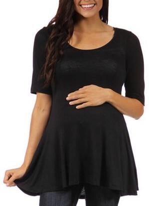 24/7 Comfort Apparel Women's Maternity 3/4-sleeve Tunic