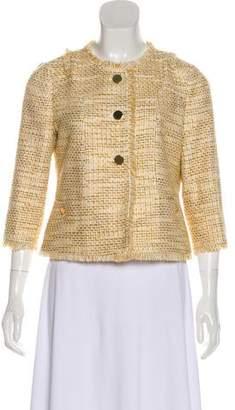 Tory Burch Metallic Tweed Blazer