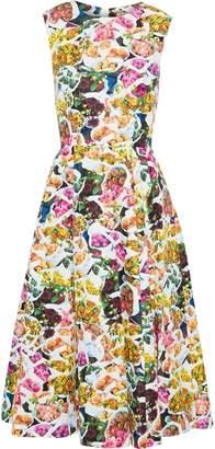 ADAM by Adam Lippes Grosgrain-trimmed Floral-print Cotton And Silk-blend Faille Dress