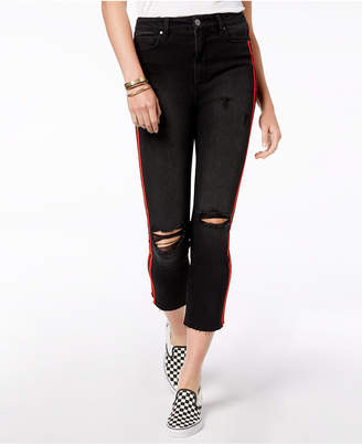 Tinseltown Juniors' Ripped Cropped Jeans