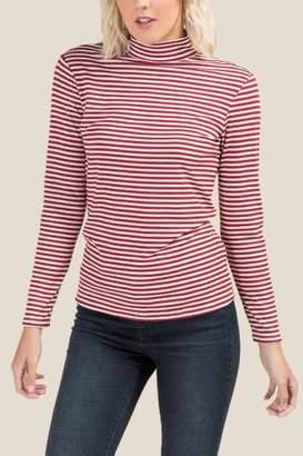 francesca's Helen Striped Top - Red