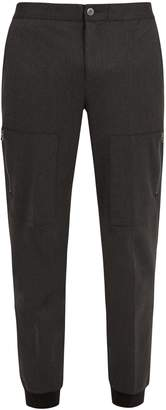 ATM Patch-pocket tapered-leg track pants