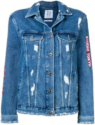 Zoe Karssen distressed denim jacket
