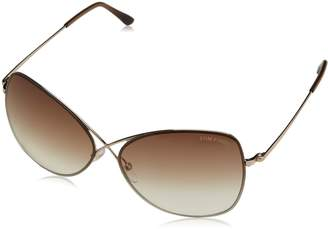 87a757b2e39 Tom Ford Women s Gradient Colette FT0250-28F-63 Gold Butterfly Sunglasses