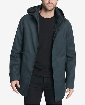 DKNY Men's Parka with Detachable Hood