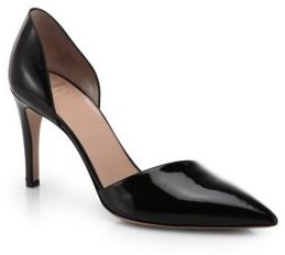 Giorgio Armani Leather d'Orsay Pumps $595 thestylecure.com