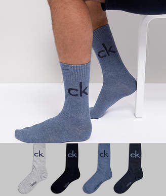 Calvin Klein Socks 4 Pack with Travel Pouch