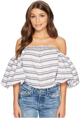 1 STATE 1.STATE Strapless Voluminous Sleeve Top Women's Clothing