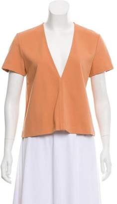 Theory Plunge Short Sleeve Top