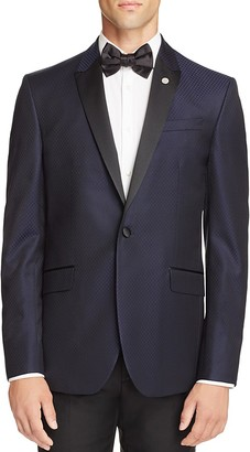 Ted Baker Jacquard Textured Slim Fit Tuxedo Jacket $745 thestylecure.com