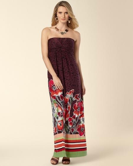 Soma Intimates Knotted Bandeau Maxi Dress