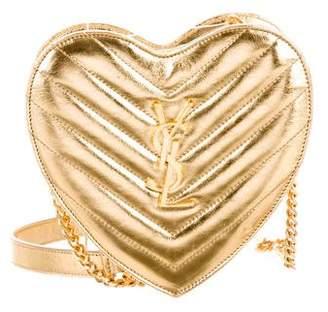 Saint Laurent 2016 Mini Love Heart Crossbody Bag