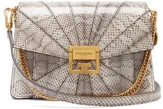 Givenchy Gv3 Small Snakeskin Cross Body Bag - Womens - White Multi