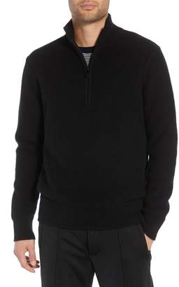 Vince Regular Fit Half Zip Cashmere Sweater