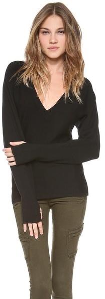 Ramy Brook Bette V Neck Sweater