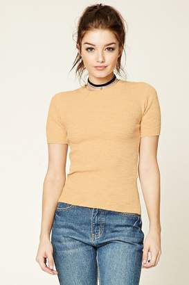 Forever 21 Marled Ribbed Knit Top