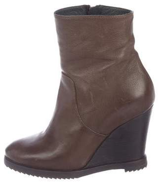 Fiorentini+Baker Leather Wedge Ankle Boots