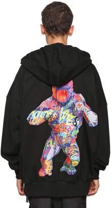 Juun.J Printed Gorilla Zip Sweatshirt Hoodie