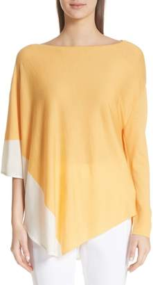 St. John Jersey Knit Asymmetrical Sweater