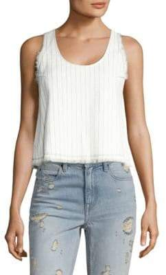 Alexander Wang Cropped Cotton Burlap Tank Top
