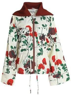 Ganni Greenwood Floral-Print Shell Jacket