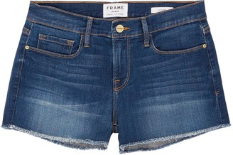 Frame 'Le Cut Off Williams' raw edge cuff denim shorts