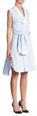 Thom Browne Wrap Shirt Dress $1,290 thestylecure.com