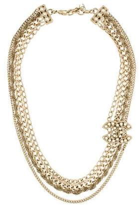 Chanel Faux Pearl CC Chain Necklace Gold Chanel Faux Pearl CC Chain Necklace