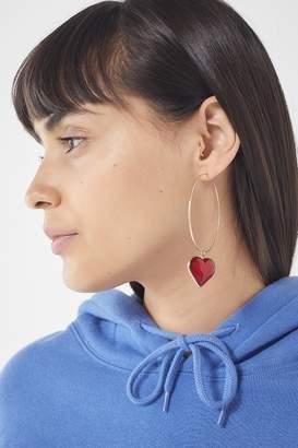 Urban Outfitters Emmie Heart Hoop Earring