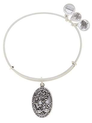 Alex and Ani Because I Love You Sister Flower Charm Expandable Wire Bangle Bracelet