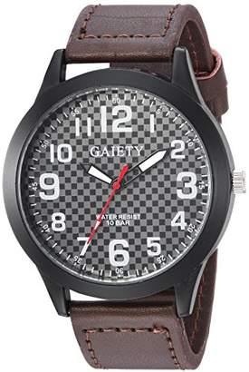 naivo Men's Quartz Stainless Steel and Man Made Watch