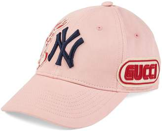 bd3cf44191e05 Gucci Baseball cap with NY YankeesTM patch