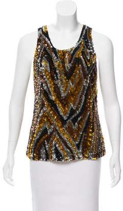 Tom Ford Sequined Scoop Neck Top