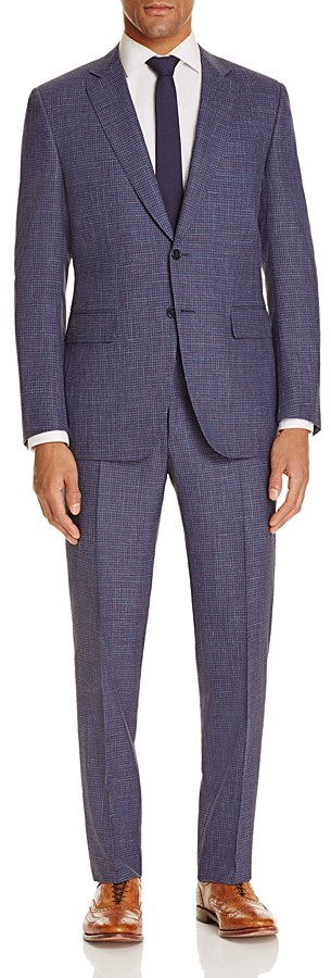 CanaliCanali Micro Pattern Classic Fit Travel Suit