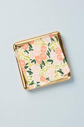 Leah Goren Painted Poppies Coaster