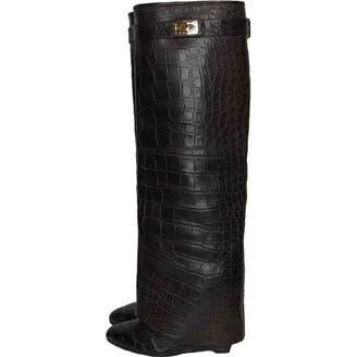Givenchy Shark Brown Crocodile Boots