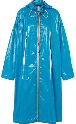 Oversized Coated-shell Jacket - Blue