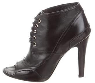 Chanel CC Peep-Toe Booties