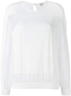Kenzo open knit panel blouse
