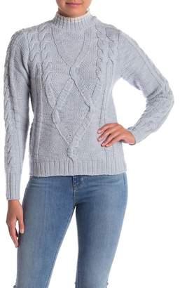 Rebecca Taylor Mock Neck Merino Sweater