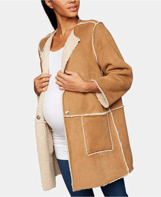 BB Dakota Maternity Faux-Suede Jacket