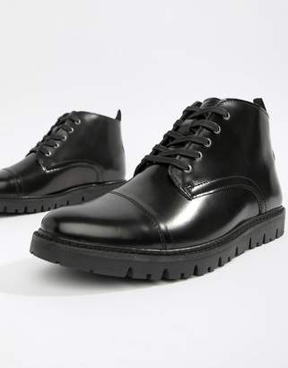 WALK LONDON WALK London Timmy lace up boots in high shine black