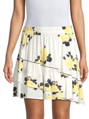 Ganni Floral Mini Skirt
