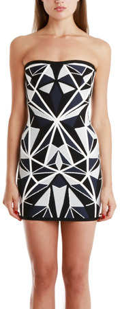 Herve Leger Jamari Knit Cocktail Dress
