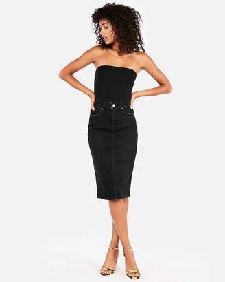 Express High Waisted Denim Pencil Skirt