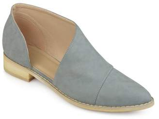 Co Brinley Women's Faux Leather Almond Toe D'orsay Flats