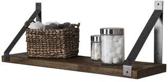 Gracie Oaks Pankuri Industrial Grace Angled Bracket Accent Shelf