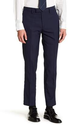 "Louis Raphael Slim Fit Wool Flat Front Pants - 30-34"" Inseam"